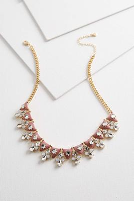 jeweled enamel bib necklace