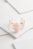 Rose Stone Cuff Bracelet