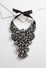 Glass Stone Bib Necklace