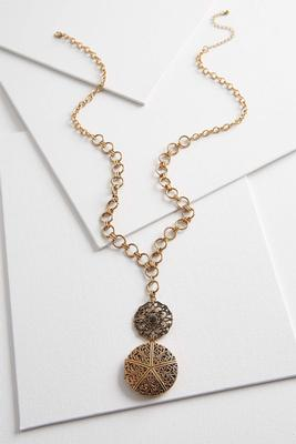 filigree locket pendant necklace