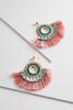 Rose Fringe Circle Earrings