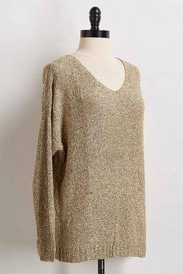 cozy loop v-neck sweater