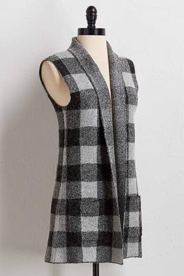 plaid sweater vest