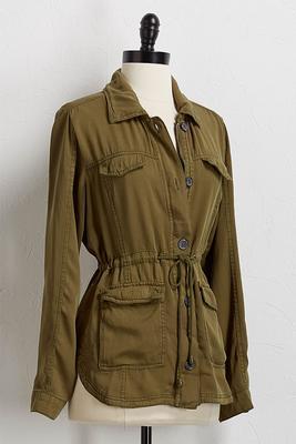 drawstring utility jacket