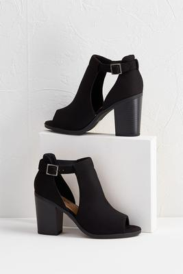 faux suede shooties