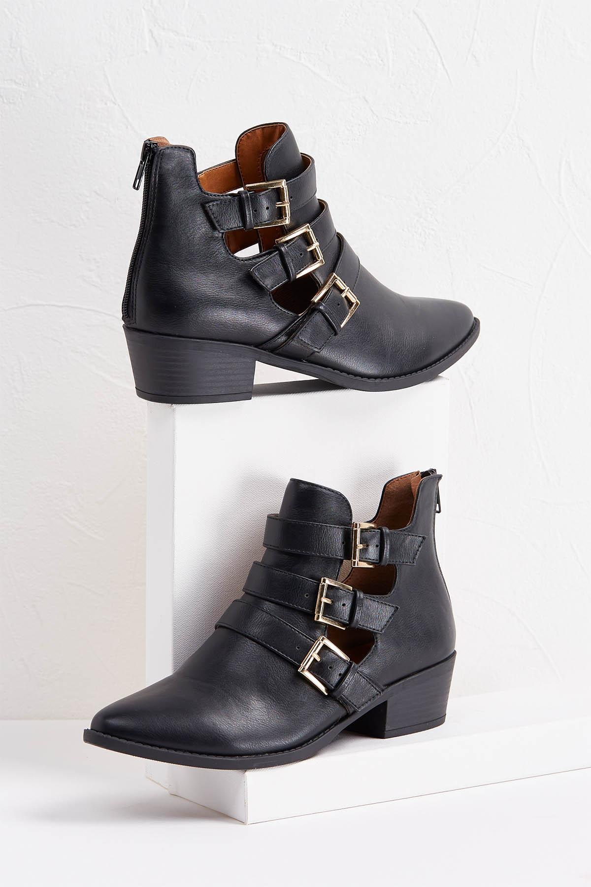 Triple Buckle Booties