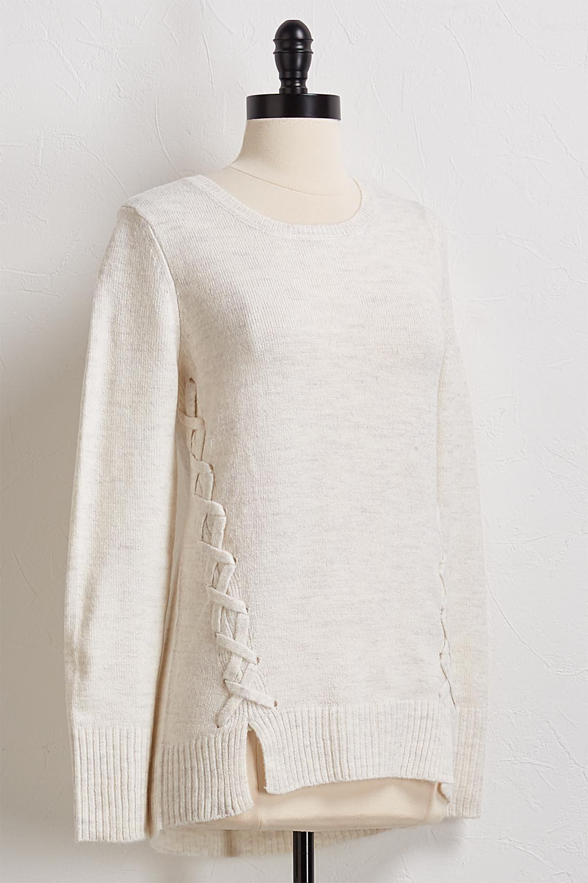 Criss Cross Pullover Sweater