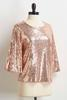 Rose Gold Sequin Top