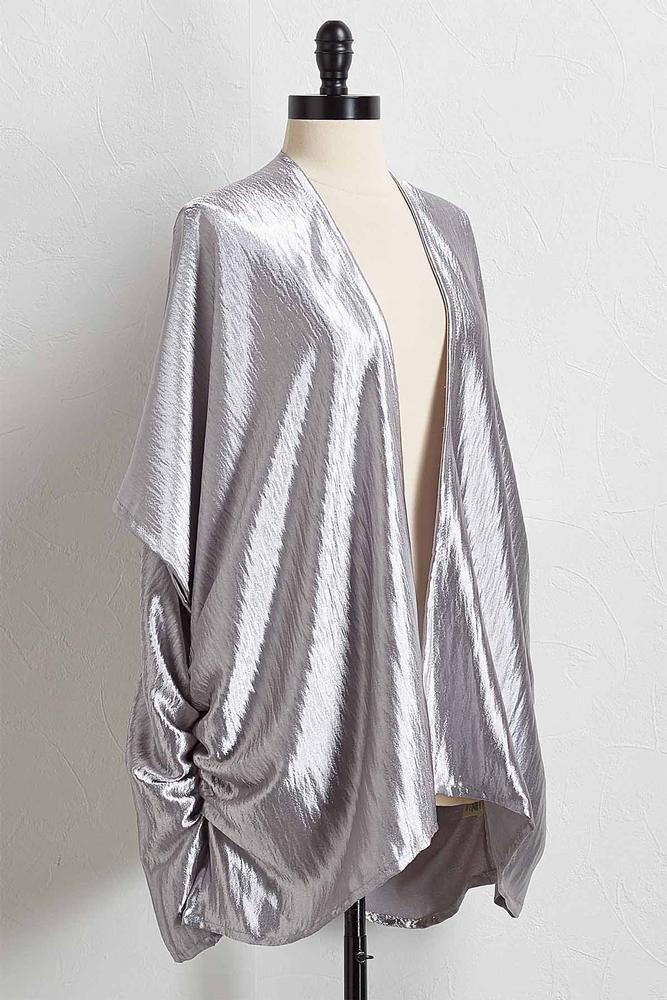 Satiny Metallic Kimono