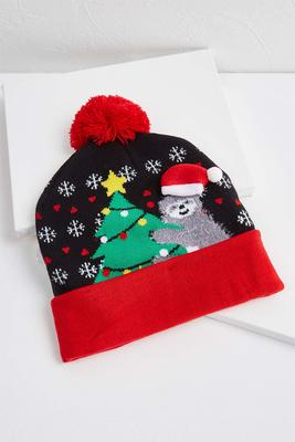 holiday sloth beanie