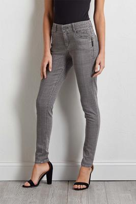 plaid shape enhancing jeggings