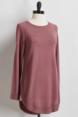 shirttail hem tunic