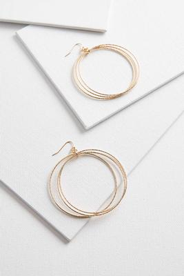 dangling textured ring earrings
