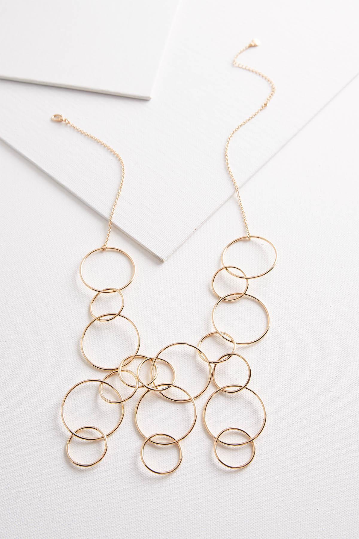 Metal Ring Bib Necklace