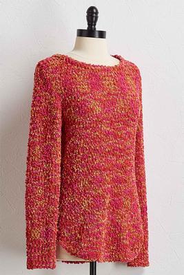 neon popcorn pullover sweater