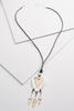 Two- Toned Heart Pendant Necklace