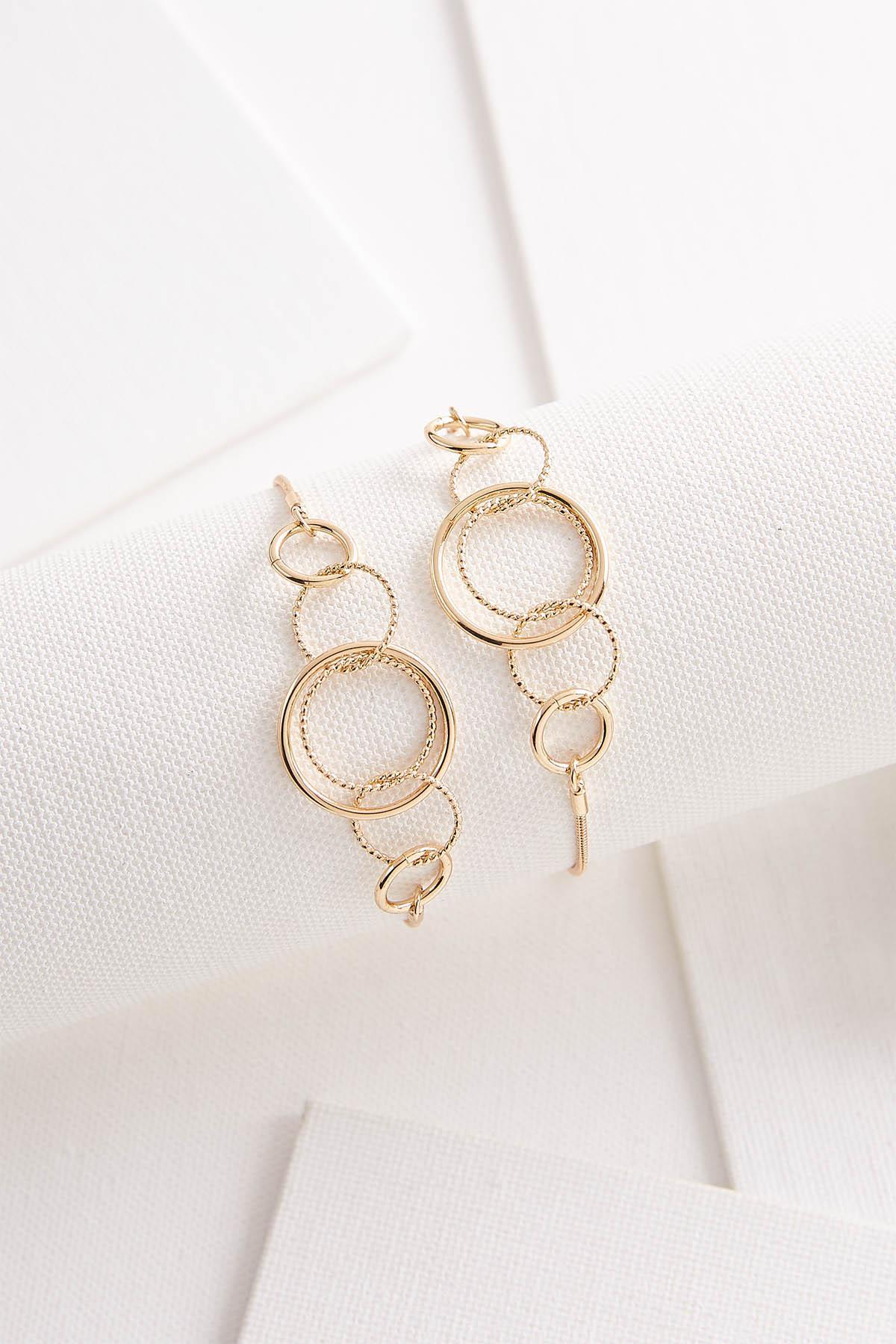 Open Ring Pull- String Bracelet