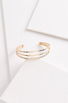 triple row cuff bracelet