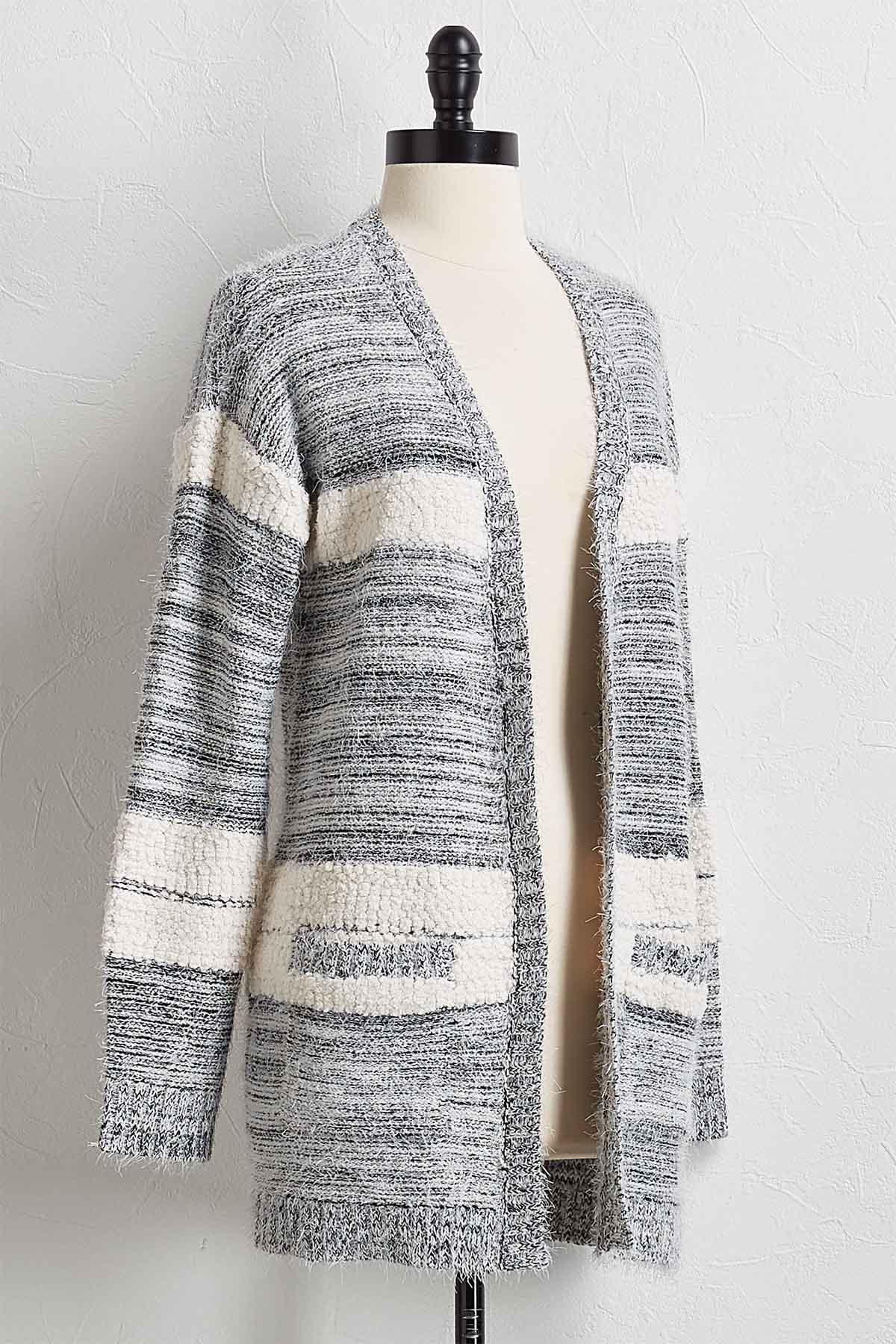 Eyelash Cardigan Sweater