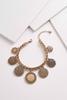 Vintage Disk Charm Bracelet