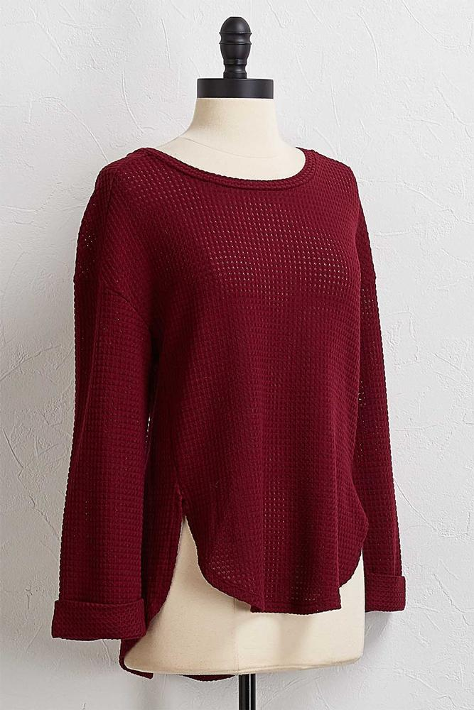 Textured Cuff Sleeve Top