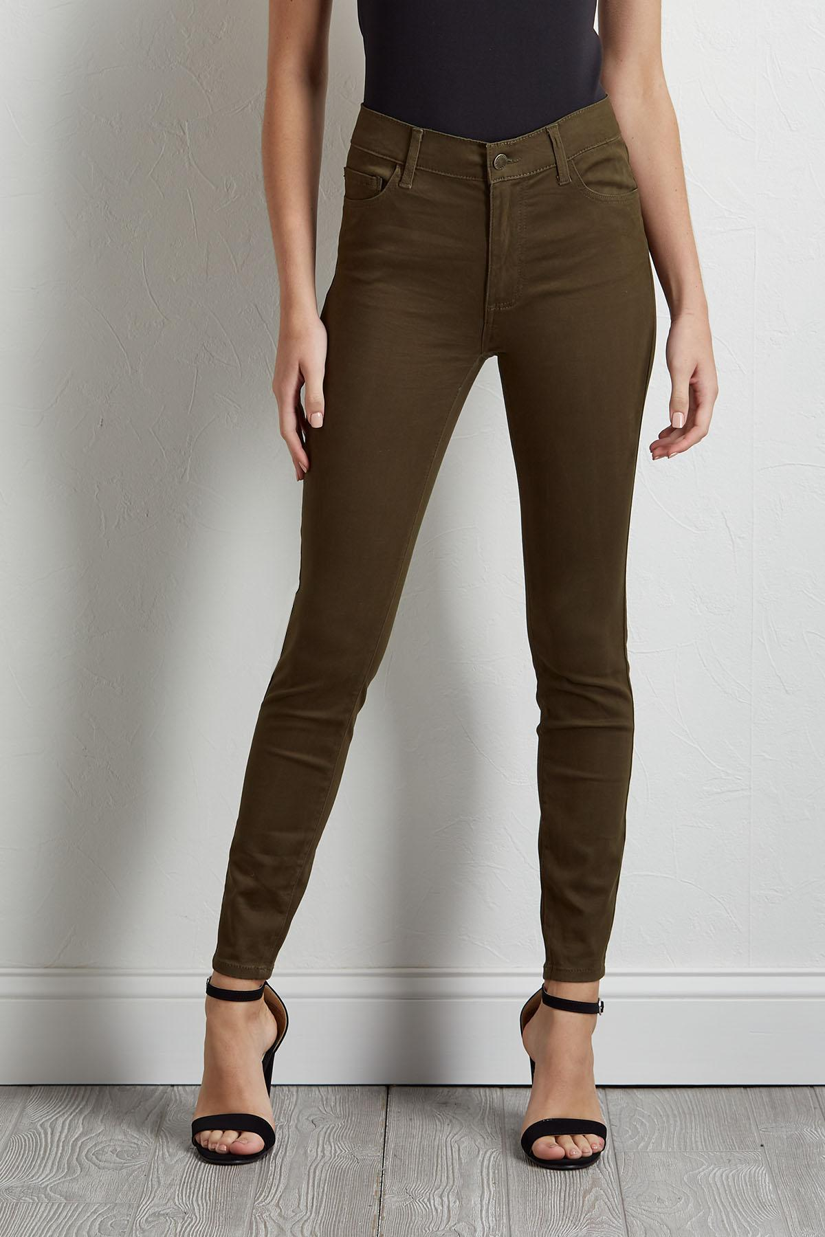 Solid Colored Skinny Pants