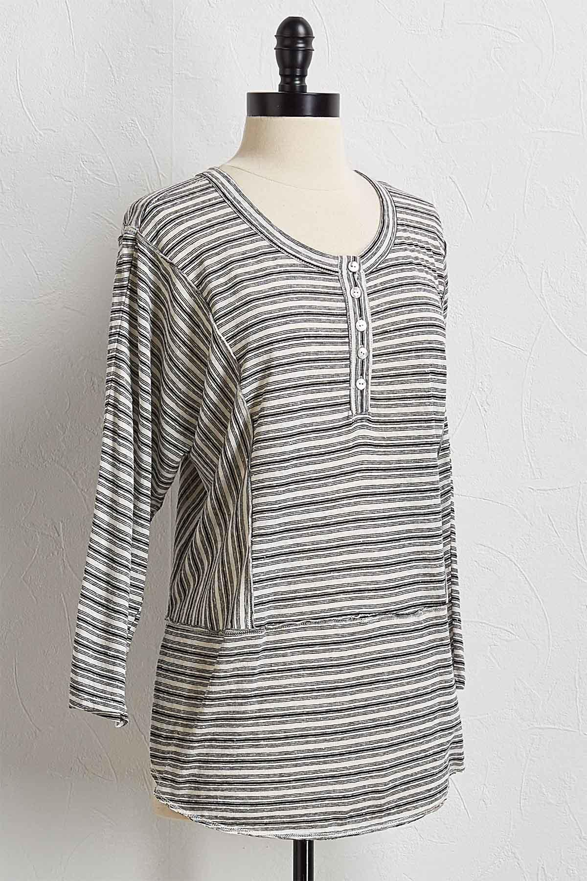 Mixed Stripe Henley