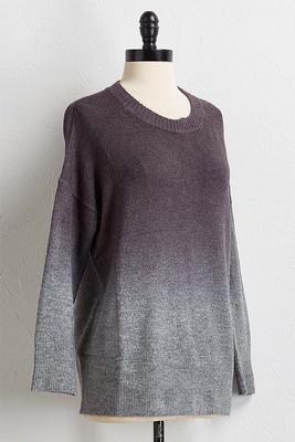 ombre pullover sweater