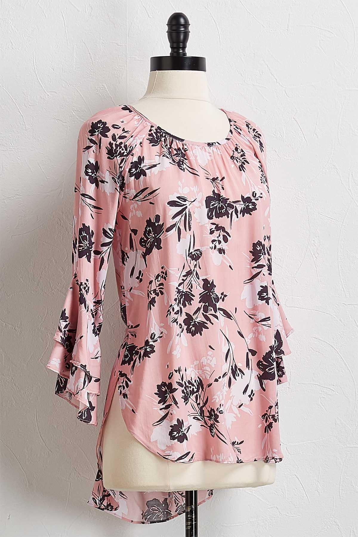 Blush Floral High- Low Top