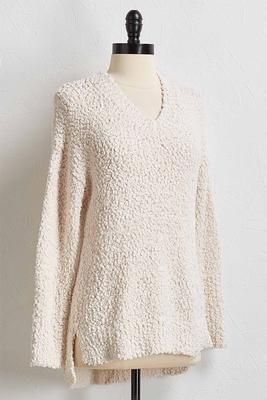 popcorn tunic sweater
