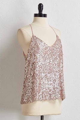 mauve sequin top