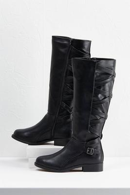 criss cross riding boots