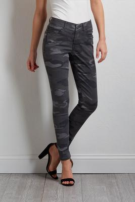 camo side zip jeggings
