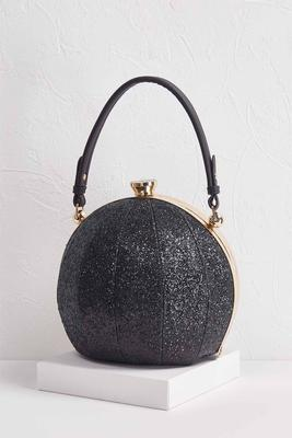 ball shaped glitter handbag