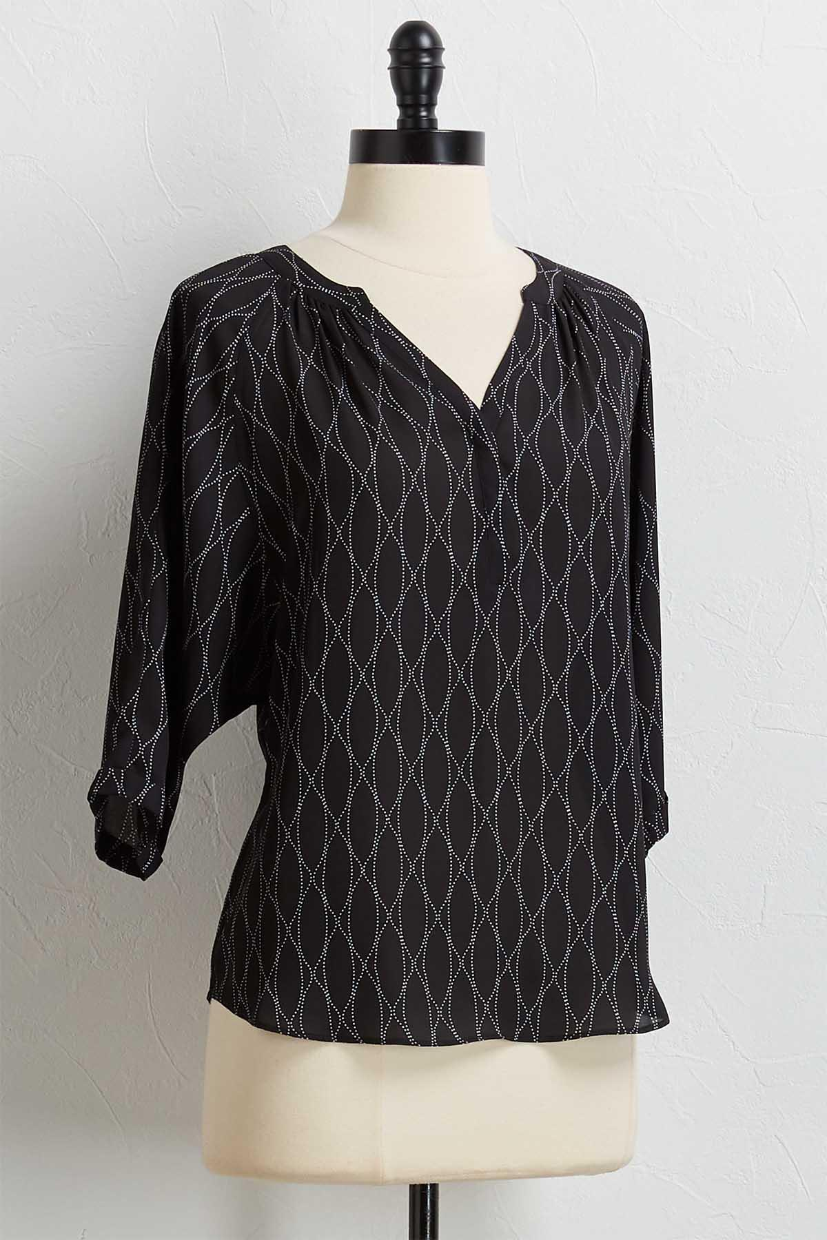 Mod Black And White Top
