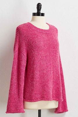 pink scoop neck sweater