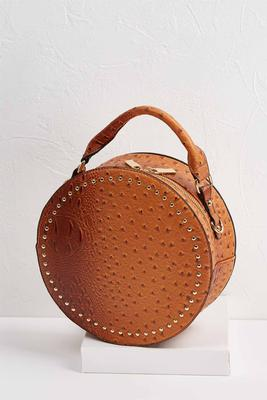 round ostrich bag set