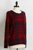Fuzzy Plaid Sweater