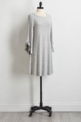 hacci ruffled sleeve dress
