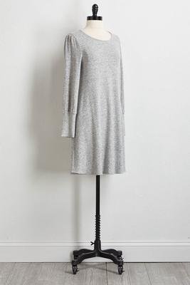 heather gray sweater dress