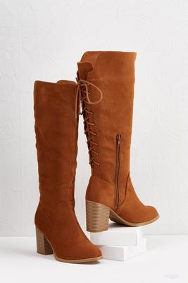 lace up back boots