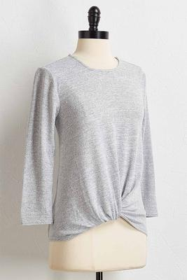 gray twist front hacci top