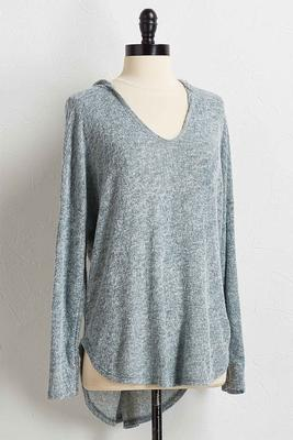 cozy hooded tunic