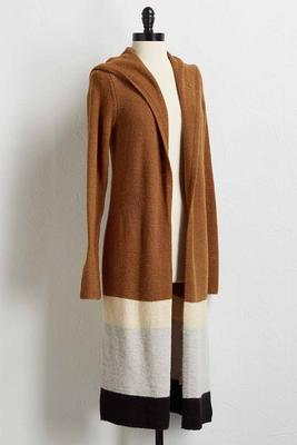 colorblock duster cardigan