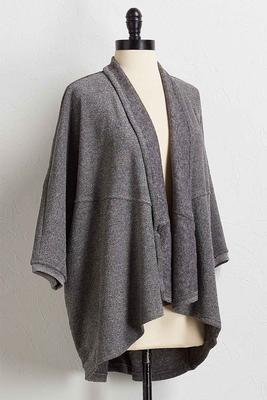 cozy draped cardigan