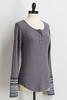 Gray Thermal Henley