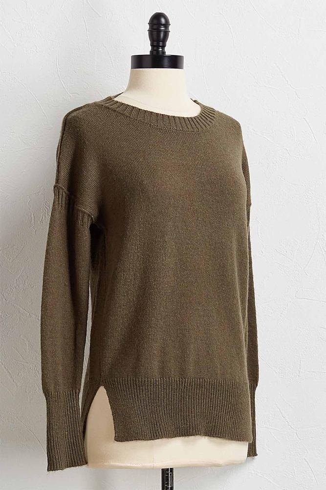 Classic Rib Trim Sweater