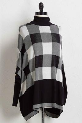 plaid tunic sweater