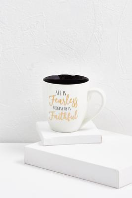 she is fearless ceramic mug