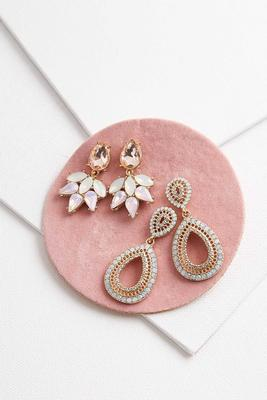 pave statement earring set